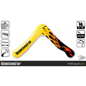 Fire - Boomerang en bois pour droitier