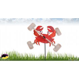 Éolienne Déco d'extérieur WhirliGig Crabe 30cm