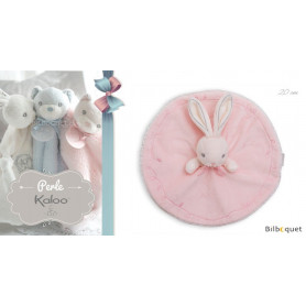 Doudou rond lapin rose - Kaloo Perle