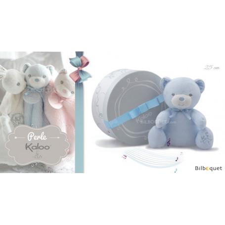 Doudou musical ours bleu - Kaloo Perle