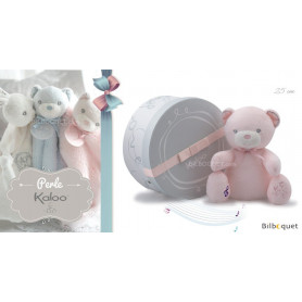 Doudou musical ours rose - Kaloo Perle
