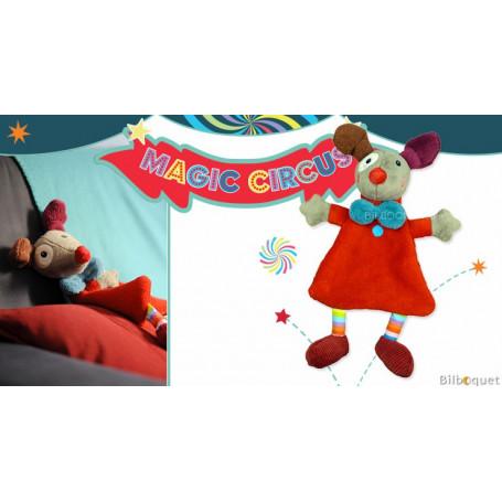 Doudou plat Clown Gustave rouge - Magic Circus