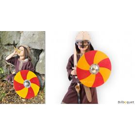 Bouclier de Viking rouge et jaune - Accessoire enfant