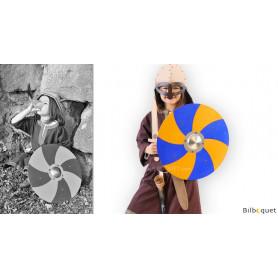 Bouclier de Viking bleu et jaune - Accessoire enfant
