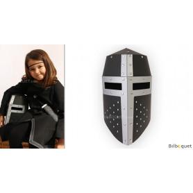 Casque de chevalier Aragon noir/argent