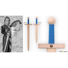 Épée Lancelot 60cm - Bleue - Accessoire en bois