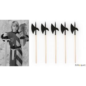 Hallebarde en bois 107cm - Accessoires de chevaliers