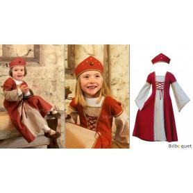 Robe Petite Marianne avec couronne - Déguisement 7-9 ans