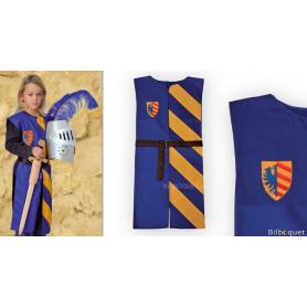 Tunique Lancelot bleu/jaune - Déguisement 5-10 ans
