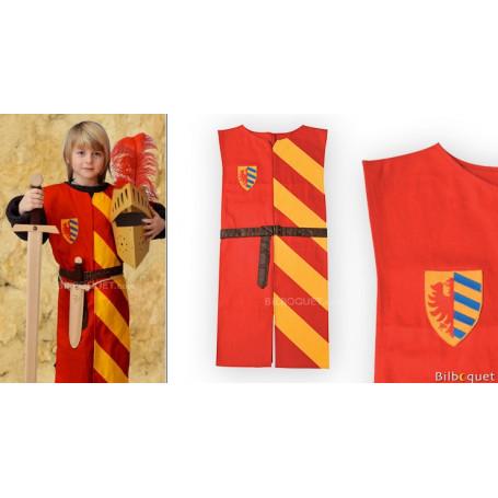 Tunique Lancelot rouge/jaune - Déguisement 5-10 ans