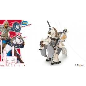 Prince au dragon et son cheval - Figurine en plastique