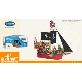 Le bateau des pirates - Jouet en bois