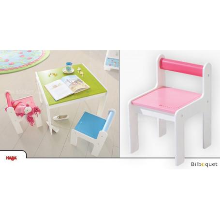 Chaise enfant Puncto - Rose - Mobilier enfant