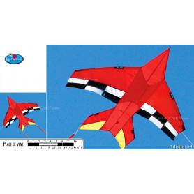Cerf-volant monofil Jet Plane Baron Rouge