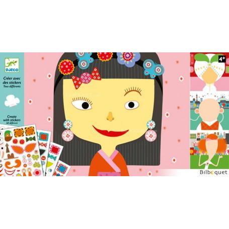 Créer avec des stickers Tous différent Design By Julie Mercier