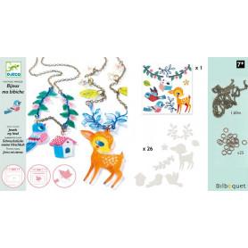 Plastique magique Bijoux le faon et l'oiseau Design By