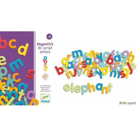 83 lettres magnétiques en bois - Magnetic's