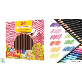 Boîte de 24 crayons de couleurs