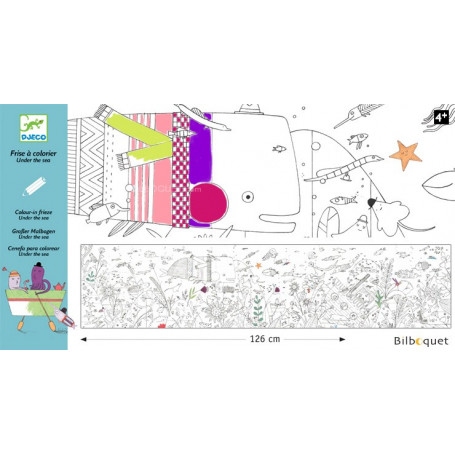 Frise sous la mer - Coloriage Design by Christine Pym