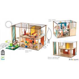 Cubic House - Maison de poupées en bois (vide)