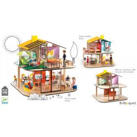 Color House - Maison de poupées en bois (vide)