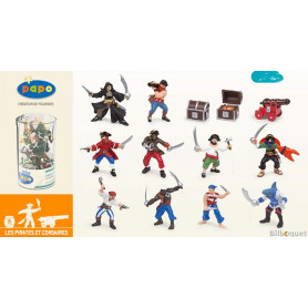 Mini Tub's pirates et corsaires - 12 mini figurines