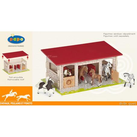 Box à chevaux - Jouet en bois