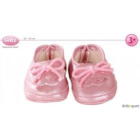 Chaussures mocassins roses - Vêtements pour poupées 30-33 cm