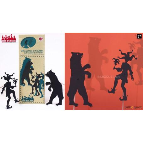 Silhouettes articulées - L'ours et le fou du roi