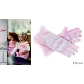 Gants roses Gladys - accessoires pour fille