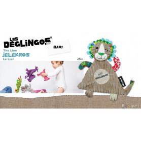 Doudou Jélékros le Lion 28cm - Déglingos Baby