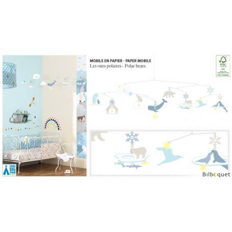 Mobile en papier FSC Les ours polaires - Little Big Room