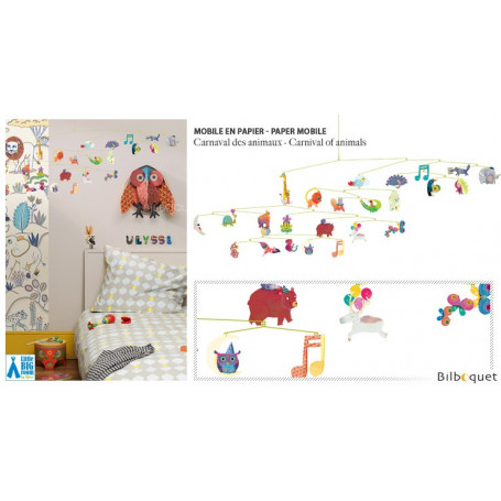 Mobile en papier Le carnaval des animaux - Little Big Room