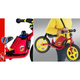 Sacoche rouge LRT pour draisienne avec courroie de transport