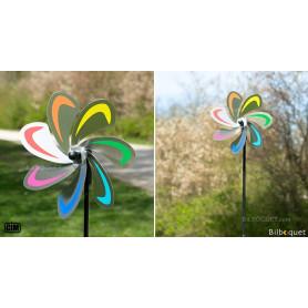 Fleur Curve Rainbow - Éolienne de jardin Ø20cm
