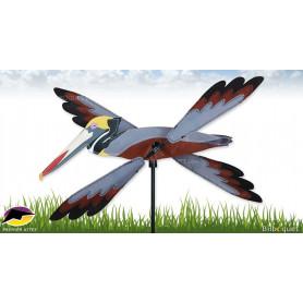 Éolienne d'extérieur WhirliGig Pélican brun 40cm