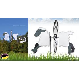 Éolienne de jardin Mouton 43cm - Petite Spinner