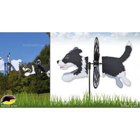 Éolienne de jardin Chien Border Collie 47cm - Petite Spinner