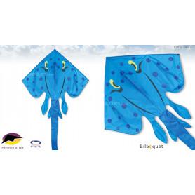 Raie Stingray Jumbo - Bleu - Cerf-volant monofil 178x340cm