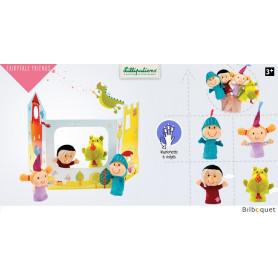 Marionnettes à doigts et décor contes