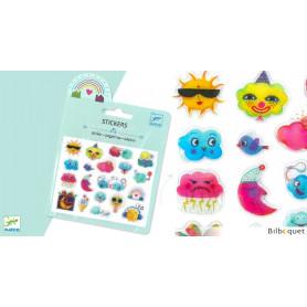Mini pochette stickers en relief - Météo