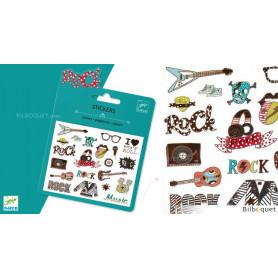 Mini pochette stickers - Pop Rock