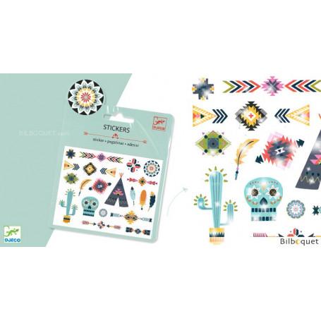 Mini pochette stickers - Western style
