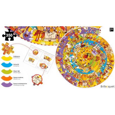 Puzzle Observation Histoire + livret 350 pièces