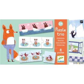 Puzzle trio Histoires - 8 puzzles