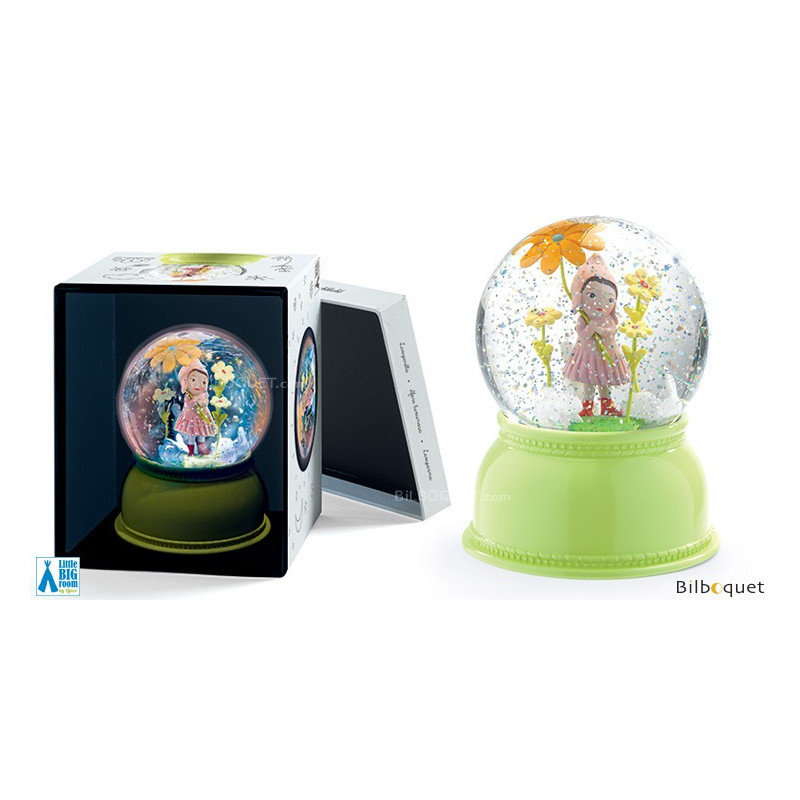 Sweet Girl Night Light Snow Globe