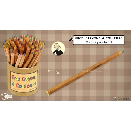 Gros crayon 4 couleurs