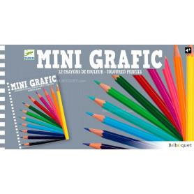 12 crayons de couleur Mini Grafic
