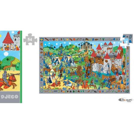 Puzzle découvertes chevaliers 54 pièces