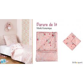 Parure de Lit Romantique - Housse de couette + taie d'oreiller